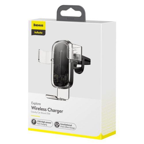 Baseus Explore Wireless Charger / Air Vent Gravity Car Mount Holder