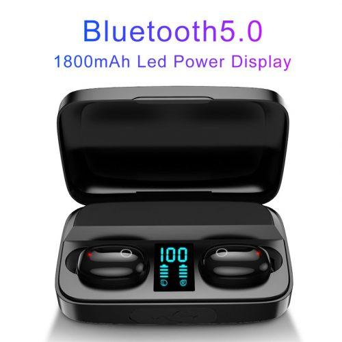 A10S TWS Wireless Bluetooth 5.0 Earbuds Black