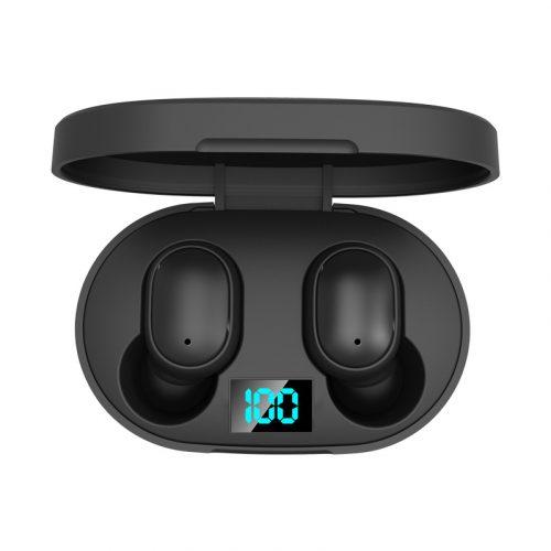E6S TWS Wireless Bluetooth 5.0 Earbuds Black