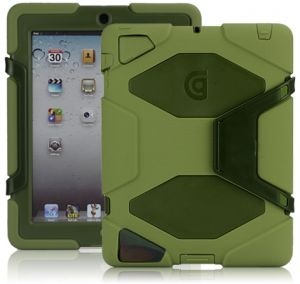 iPad 4 MILITARY-DUTY CASE WITH STAND Green