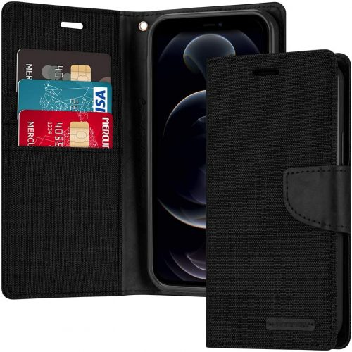 iPhone 12 and iPhone 12 Pro Goospery Canvas Wallet Case