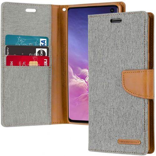 Samsung Galaxy S10 Goospery Canvas Wallet Case Grey