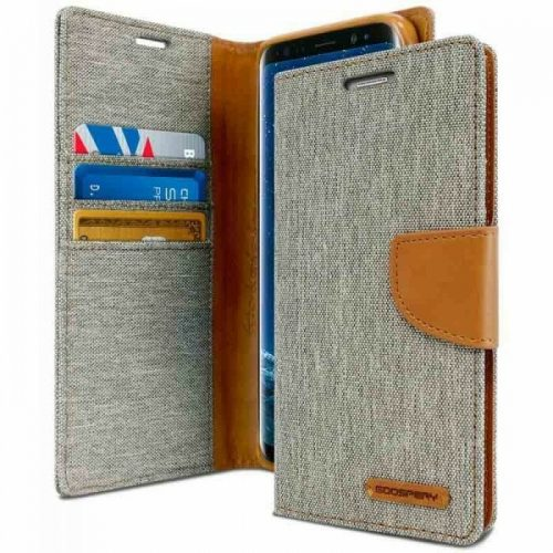 Samsung Galaxy S8 Plus Goospery Canvas Wallet Case Grey
