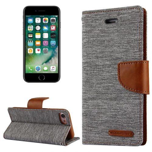 iPhone 7/ 8 / SE 2020 Goospery Canvas Wallet Case Grey