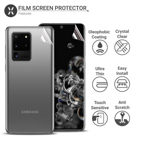 Samsung Galaxy S20 Ultra TPU Screen Protector ( Front and Back )