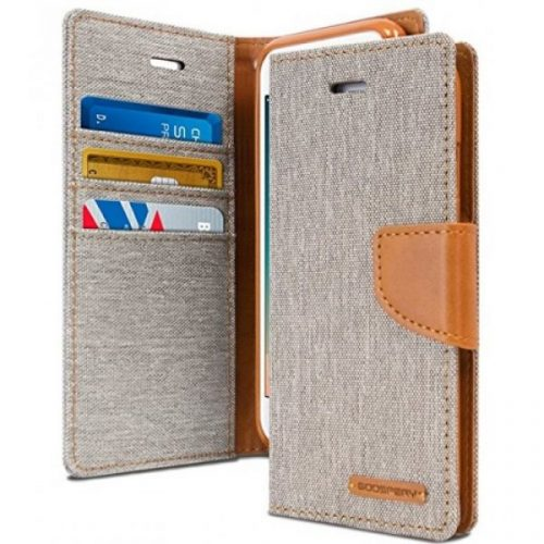 iPhone 6/ 6S Goospery Canvas Wallet Case Grey