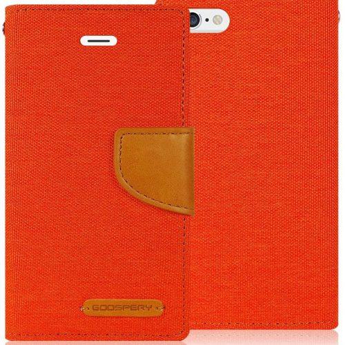 iPhone 6 Plus / iPhone 6S Plus Goospery Canvas Wallet Case Orange