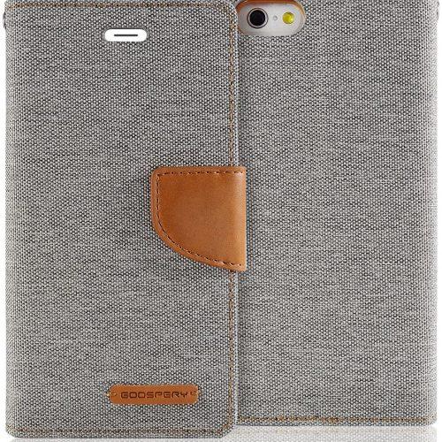 iPhone 6 Plus / iPhone 6S Plus Goospery Canvas Wallet Case Grey