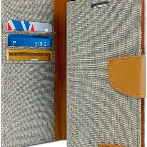 Samsung Galaxy Note 8 Canvas Wallet Case Grey